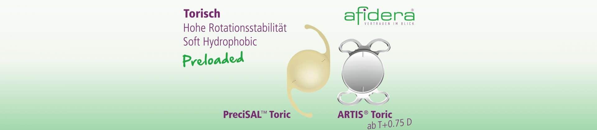 Toric IOL Plattform PreciSAL Toric und ARTIS Toric