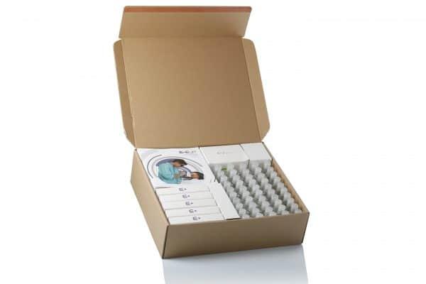 E-Eye Kit BD Box mit 50 Einzeldosen, Gel, Reinigungsmittel und Blitzen